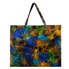 Squiggly Abstract C Zipper Large Tote Bag
