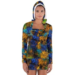 Squiggly Abstract C Long Sleeve Hooded T Shirt