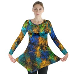 Squiggly Abstract C Long Sleeve Tunic