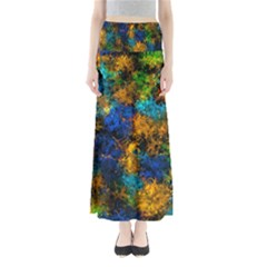 Squiggly Abstract C Full Length Maxi Skirt