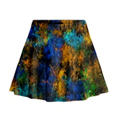 Squiggly Abstract C Mini Flare Skirt