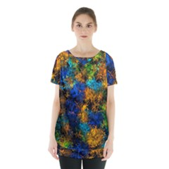 Squiggly Abstract C Skirt Hem Sports Top
