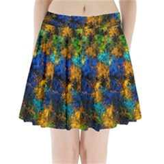 Squiggly Abstract C Pleated Mini Skirt