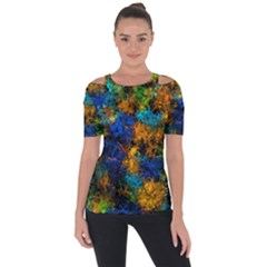 Squiggly Abstract C Short Sleeve Top