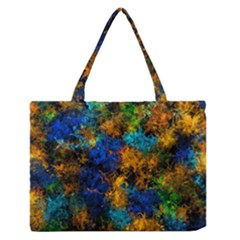 Squiggly Abstract C Zipper Medium Tote Bag