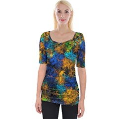 Squiggly Abstract C Wide Neckline Tee