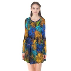 Squiggly Abstract C Flare Dress