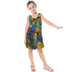 Squiggly Abstract C Kids  Sleeveless Dress