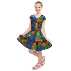 Squiggly Abstract C Kids  Short Sleeve Dress
