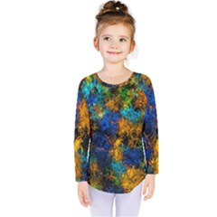 Squiggly Abstract C Kids  Long Sleeve Tee