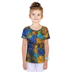 Squiggly Abstract C Kids  One Piece Tee
