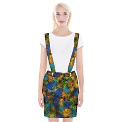 Squiggly Abstract C Braces Suspender Skirt