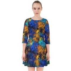 Squiggly Abstract C Smock Dress