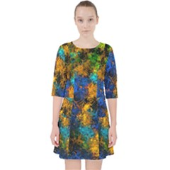 Squiggly Abstract C Pocket Dress