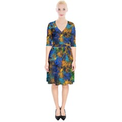 Squiggly Abstract C Wrap Up Cocktail Dress