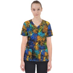 Squiggly Abstract C Scrub Top