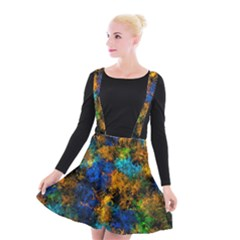 Squiggly Abstract C Suspender Skater Skirt