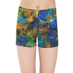 Squiggly Abstract C Kids Sports Shorts