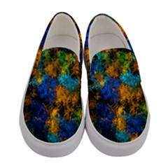 Squiggly Abstract C Women s Canvas Slip Ons