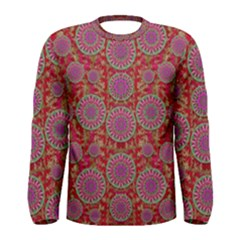 Hearts Can Also Be Flowers Such As Bleeding Hearts Pop Art Men s Long Sleeve Tee