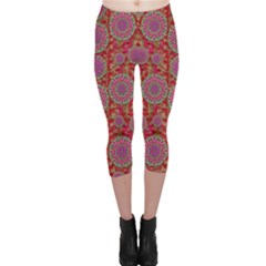 Hearts Can Also Be Flowers Such As Bleeding Hearts Pop Art Capri Leggings