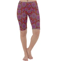 Hearts Can Also Be Flowers Such As Bleeding Hearts Pop Art Cropped Leggings