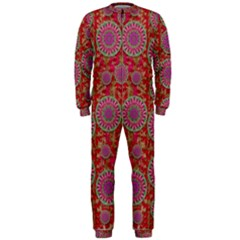 Hearts Can Also Be Flowers Such As Bleeding Hearts Pop Art Onepiece Jumpsuit (men)