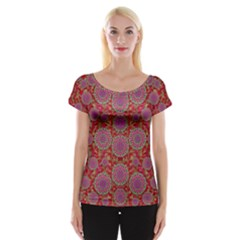 Hearts Can Also Be Flowers Such As Bleeding Hearts Pop Art Cap Sleeve Tops
