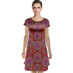 Hearts Can Also Be Flowers Such As Bleeding Hearts Pop Art Cap Sleeve Nightdress