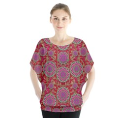 Hearts Can Also Be Flowers Such As Bleeding Hearts Pop Art Blouse