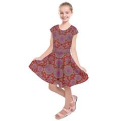 Hearts Can Also Be Flowers Such As Bleeding Hearts Pop Art Kids  Short Sleeve Dress