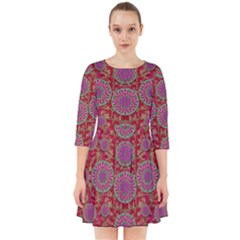 Hearts Can Also Be Flowers Such As Bleeding Hearts Pop Art Smock Dress