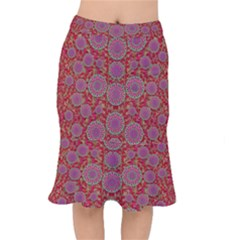 Hearts Can Also Be Flowers Such As Bleeding Hearts Pop Art Mermaid Skirt