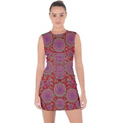 Hearts Can Also Be Flowers Such As Bleeding Hearts Pop Art Lace Up Front Bodycon Dress