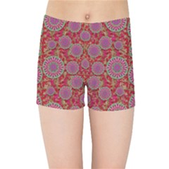 Hearts Can Also Be Flowers Such As Bleeding Hearts Pop Art Kids Sports Shorts
