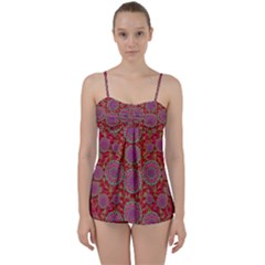 Hearts Can Also Be Flowers Such As Bleeding Hearts Pop Art Babydoll Tankini Set
