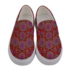 Hearts Can Also Be Flowers Such As Bleeding Hearts Pop Art Women s Canvas Slip Ons