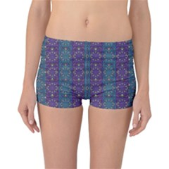 Retro Vintage Bleeding Hearts Pattern Reversible Boyleg Bikini Bottoms
