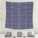 Retro Vintage Bleeding Hearts Pattern Square Tapestry (Large) View2