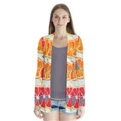 Citrus Play Drape Collar Cardigan