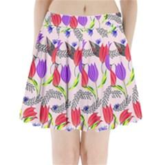 Floral Paradise Pleated Mini Skirt
