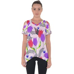Floral Paradise Cut Out Side Drop Tee