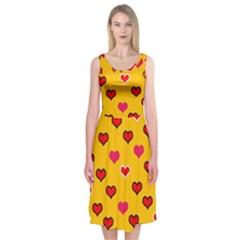 Lemony Love Midi Sleeveless Dress