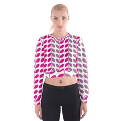 Pink Waves Cropped Sweatshirt