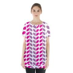 Pink Waves Skirt Hem Sports Top