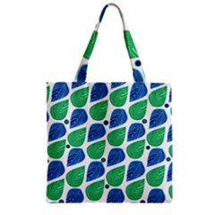 Leaves Zipper Grocery Tote Bag