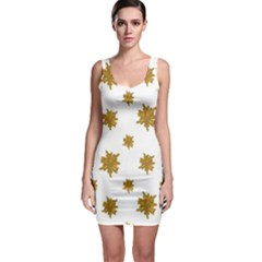 Graphic Nature Motif Pattern Bodycon Dress