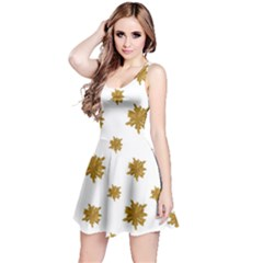 Graphic Nature Motif Pattern Reversible Sleeveless Dress
