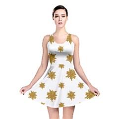 Graphic Nature Motif Pattern Reversible Skater Dress