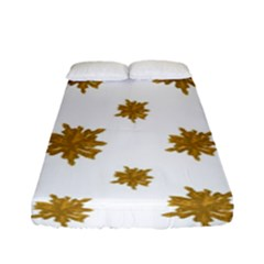 Graphic Nature Motif Pattern Fitted Sheet (full/ Double Size)
